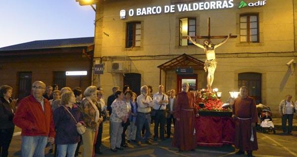 Photo of Procesión do Cristo dos Ferroviarios o Mércores Santo, no Barco