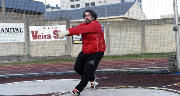 Photo of Javier Cid, atleta do Adas, subcampión de Europa máster en martelo