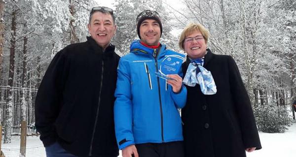 Photo of O trivés Jorge Guerra, campión galego absoluto de esquí alpino