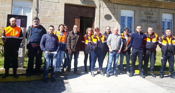 Photo of As agrupacións de Protección Civil da comarca trivesa reúnense co xefe provincial de Emerxencias
