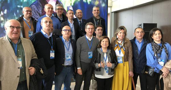 Photo of A delegación ourensá, na convención nacional do PP de Sevilla