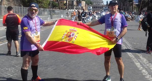 Photo of Dous valdeorreses no XXIV Maratón de Roma