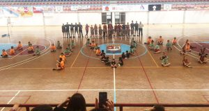 Encontro das escolas de baloncesto do Mobles Victoria no Barco