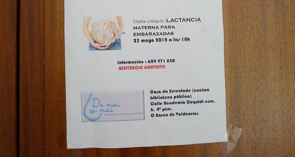 Photo of Charla sobre a preparación á lactancia materna, o 23 de maio no Barco