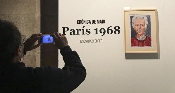 Photo of A crónica plástica do maio do 68 do valdeorrés Díaz Ferrer, en Santiago