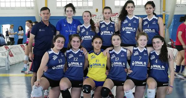 Photo of Dous de dous para as cadetes do Club Voleibol Ribeira Sacra