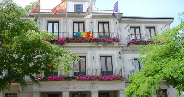 Photo of Bandeiras polo Día do Orgullo LGTBI, no Concello do Barco