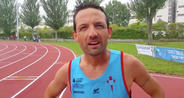 Photo of O valdeorrés José Fernández Nieves, campión galego nos 5 km marcha