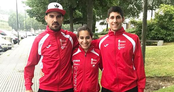 Photo of Ouros para Alejo Ares e Leticia Fernández no galego absoluto de atletismo