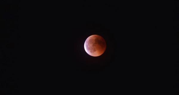 Photo of Eclipse e lúa de sangue, dende o Barranco Rubio