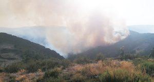 Estabilizados os dous incendios do Parque Natural do Invernadeiro, en Vilariño de Conso