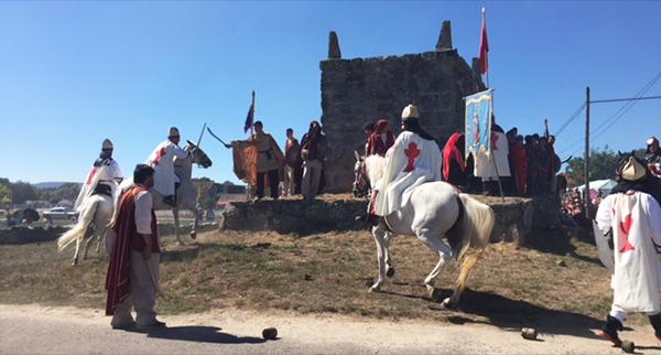 Photo of Os cristiáns vencen no combate ante os mouros no campo da Saínza