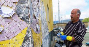 Un mosaico para o Sil, da man de Chere e aberto a veciños e visitantes do Barco