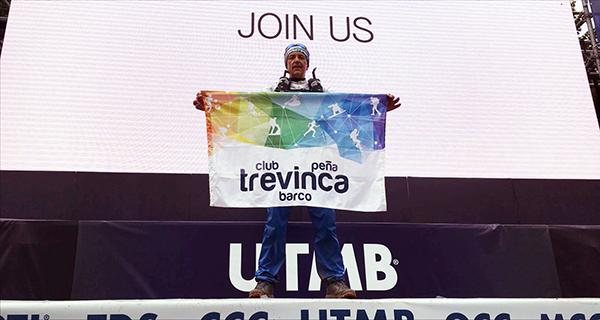 Photo of Un membro do Club Peña Trevinca Barco no Mont Blanc
