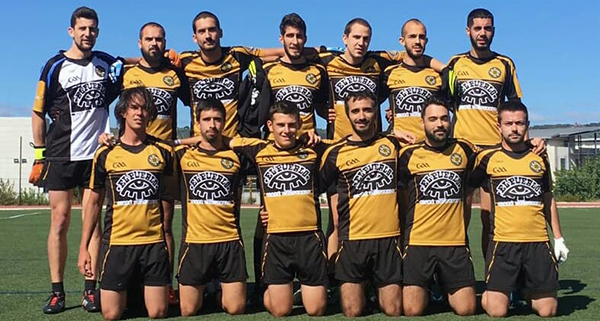 Photo of Vitoria do Auriense FG masculino, na estrea da liga en casa contra Mecos do Grove