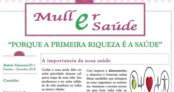 """Photo of O primeiro número do boletín trimestral """"Muller e Saúde"""" sae á rúa en Trives"""