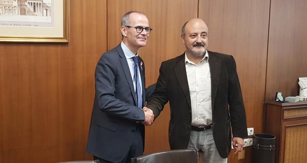 Photo of Reunión do presidente da Confederación Hidrográfica Miño-Sil co alcalde de Ourense