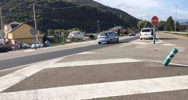 Photo of Vilamartín leva anos pedindo un paso elevado ou subterráneo para o cruce coa N-120 no que se producía un accidente esta mañá