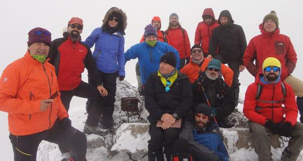 """Photo of Ascensión ao cume de Trevinca o 1 de decembro para colocar o """"Belén da cima de Galicia"""""""