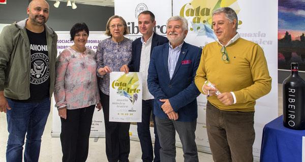 """Photo of Cultura e viño do Ribeiro marídanse por quinta edición en """"Cata a Arte"""""""