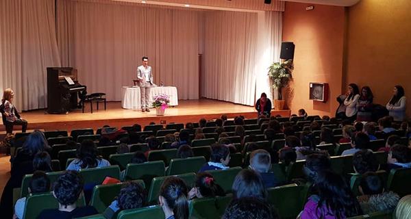 Photo of O pianista trivés Fabio Álvarez celebra o día da patroa dos músicos cos alumnos de Trives e Manzaneda