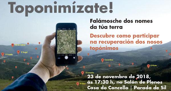 """Photo of A campaña """"Toponimízate. Falámosche dos nomes da túa terra"""" recala en Parada de Sil"""