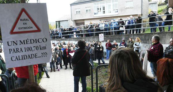 Photo of A manifestación de Rubiá en imaxes