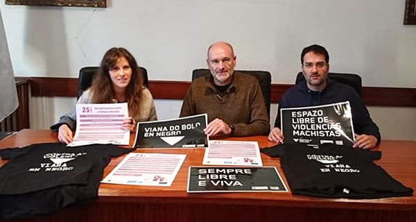 "Photo of ""Viana en negro"" para conmemorar o ""Día internacional contra a violencia machista"""
