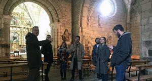 Xurado e directores do FIC Vía XIV de Verín visitan o Castelo de Monterrei e o Museo Claustro Mercedario
