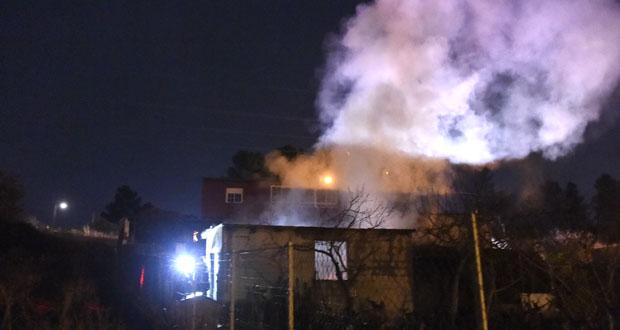 Photo of Imaxes do incendio nunha caseta da Proba (O Barco)