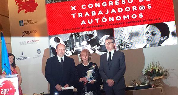 Photo of A presidenta das empresarias de Ourense, galardoada no X Congreso de Autónomos de Galicia