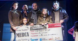Aever-CCU Verín entrega o premio de 1.000 euros da campaña de Nadal
