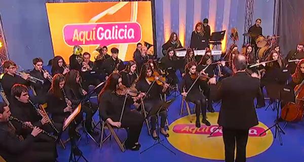 """Photo of As melodías da Banda de Música do Barco, no """"Aquí Galicia"""""""