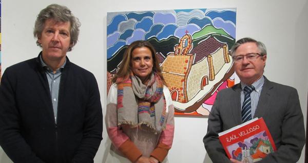 """Photo of O Mosteiro de Xagoaza, nun dos cadros da exposición """"Galicia, o País das Marabillas"""""""
