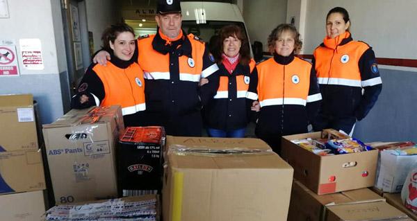 Photo of Segunda entrega de Protección Civil de Trives ao banco de alimentos de Ourense