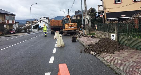 Photo of Obras de abastecemento, saneamento e beirarrúas na zona de A Costa, na Rúa