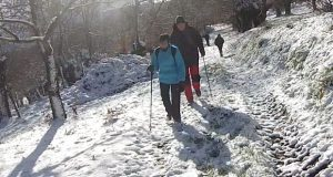 Pola neve na V Andaina do Chourizo entre Trives e Vilanova