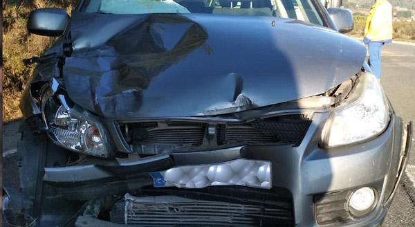 Photo of Dúas persoas feridas nun accidente de tráfico na N-120 en Rubiá