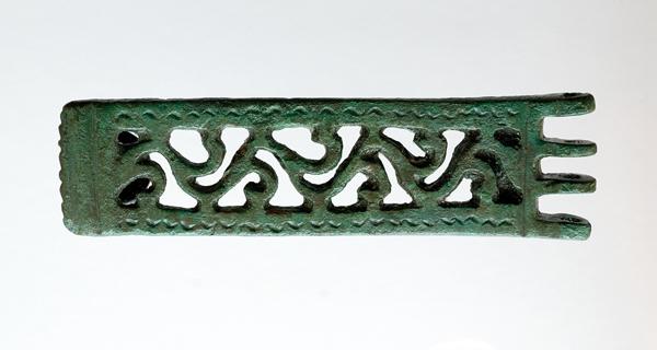 """Photo of A placa de cinto de Santomé, """"Peza do Mes"""" número 200 no Museo Arqueolóxico de Ourense"""