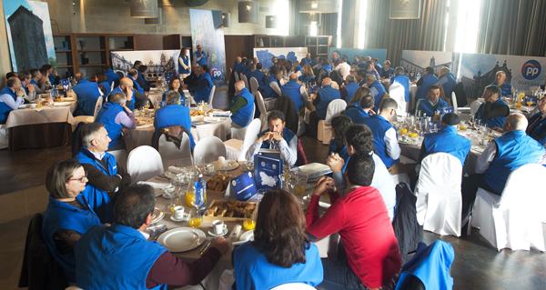 Photo of Os 92 candidatos do PP ás alcaldías da provincia reúnense en Allariz