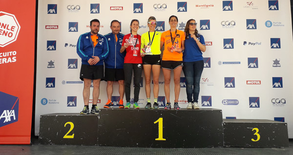 "Photo of Vitoria da vilamartinesa Eva Arias nos 5 km da Carreira ""Ponle Freno"" en Badalona"
