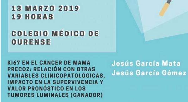 """Photo of Un estudo do valdeorrés Jesús García Mata sobre o marcador """"ki67 no cancro de mama precoz"""" gana o XXXIV Premio Cabaleiro Goás"""