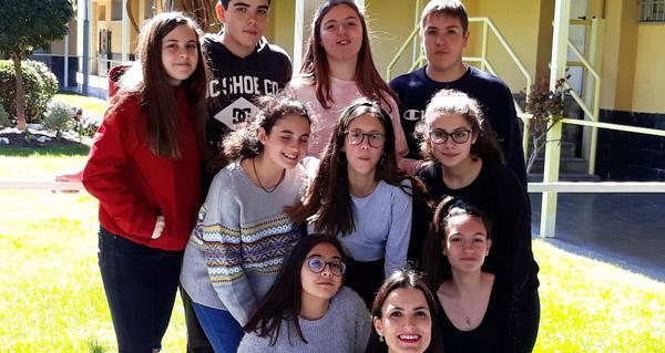 Photo of Un grupo de alumnos do IES Lauro Olmo, ganadores da 1ª fase do Rally Matemático sen fronteiras