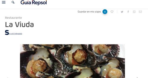 """Photo of O Restaurante La Viuda de Trives, entre os recomendados na """"Guía Repsol 2019"""""""