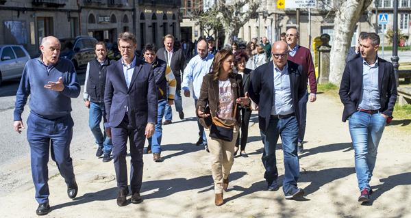 Photo of Feijóo e Baltar apoian aos candidatos do PP ás municipais en Allariz e A Merca