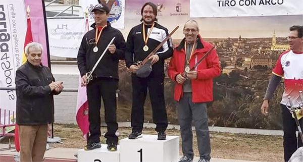 Photo of Santos Murias, do Club Arco Barco, subcampión no 2º Gran Premio de España celebrado en Toledo