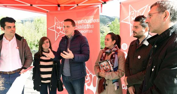 Photo of A caravana moza das Xuventudes Socialistas de Galicia chega a Valdeorras