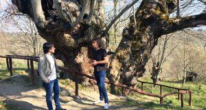 Iván Olmos (En Marea) visita o concello de Manzaneda