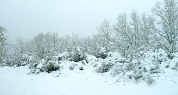 Photo of A neve pinta de branco a primavera na montaña ourensá