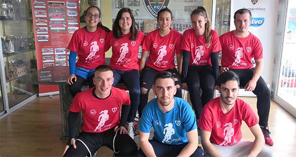 Photo of A valdeorresa Isabel Vázquez, no equipo de adestradores do I Campus Tec Fútbol Feminino, en Carballo